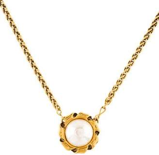 Chanel Faux Pearl Pendant Necklace