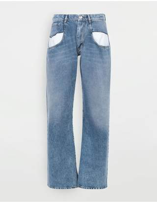 Maison Margiela Straight Jeans With Contrasted Pockets