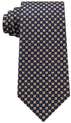 Club Room Men's Florette Medallion Silk Tie, Created for Macy's