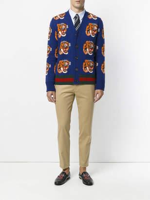 Gucci Tiger jacquard wool cardigan