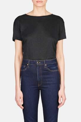 Acne Studios Eldora Linen Short Sleeve Tee - Black