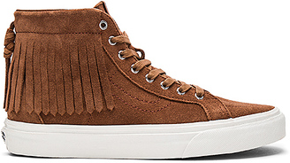 Vans SK8-HI Moc Sneaker in Brown $80 thestylecure.com
