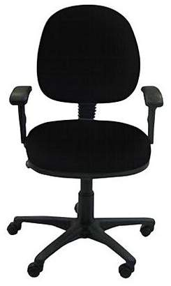 Office Chairs Ezitask Medium Back Office Chair with Arms, Diami Black