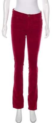 J Brand Corduroy Mid-Rise Skinny Pants