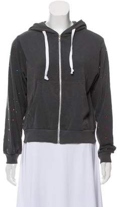 Wildfox Couture Sequin-Accented Zip-Up Hoodie w/ Tags