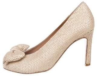 See by Chloe Round-Toe Sequined Pumps