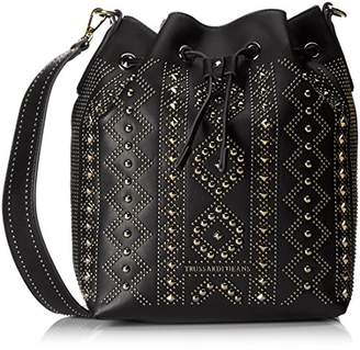 Trussardi Women's 75BP8253 Cross-Body Bag Black