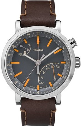 Timex Unisex Metropolitan+ Dark Brown/Silver-Tone/Black Watch, Leather Strap