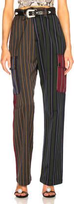 Loewe Patchwork Stripe Cargo Trouser