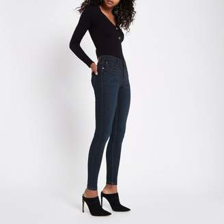 River Island Womens Dark blue Amelie super skinny jeans