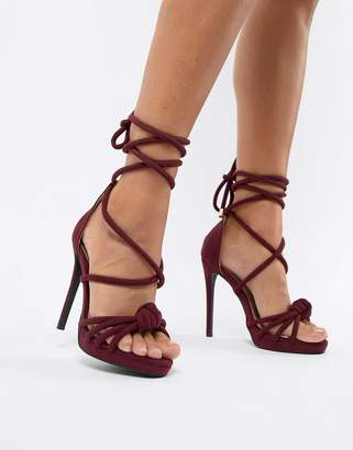 Missguided knotted heeled sandals