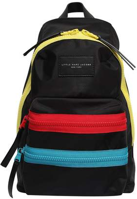 Little Marc Jacobs Nylon Canvas Backpack W/ Logo Patch