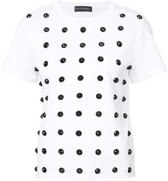 David Koma studded T-shirt