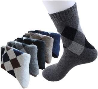 Celine lin Mens Super Thick Warm Wool Crew Winter Socks,5-Pair