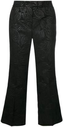 Essentiel Antwerp textured cropped trousers