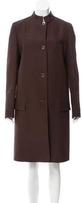 Michael Kors Jacquard Knee-Length Coat