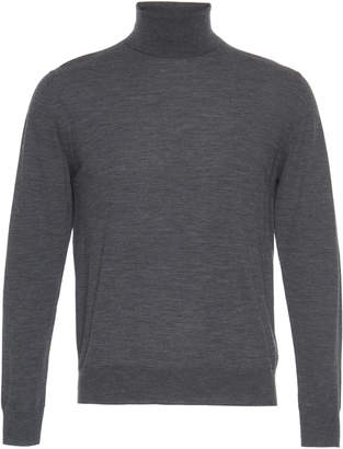 Prada Long Sleeve Knit Wool Turtleneck