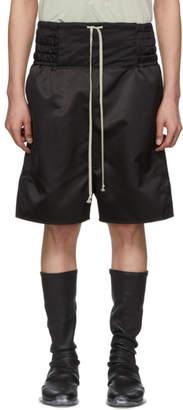 Rick Owens Black Boxing Shorts