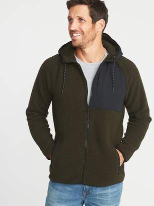 Old Navy Go-Warm Sherpa Nylon-Trim Hooded Jacket for Men