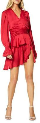 Ramy Brook Roman Long-Sleeve Tiered Flounce Dress
