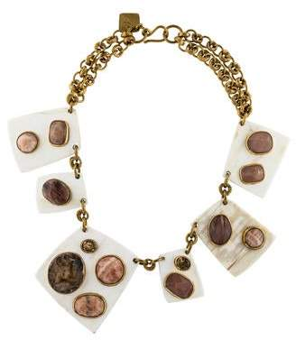 Ashley Pittman Sabini Light Horn Collar Necklace