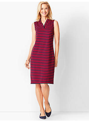 Talbots Feminine Knit Jersey Dress - Striped