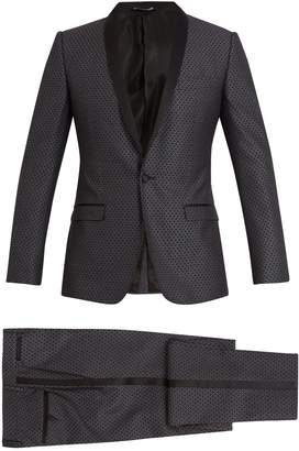 Dolce & Gabbana Two-piece jacquard silk-wool suit
