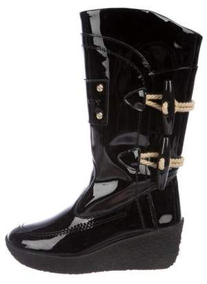 f69426590fc3 Pre-Owned at TheRealReal · Burberry Patent Leather Wedge Boots