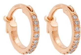 Ileana Makri - Diamond & Rose Gold Earrings - Womens - Rose Gold