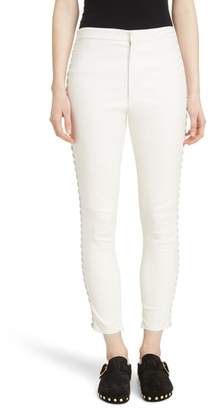 Isabel Marant Medley Lace-Up Side Lambskin Leather Pants