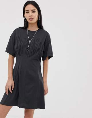 Cheap Monday Conjured skater dress with defect logo
