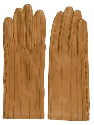 Hermes Leather Silk-Lined Gloves