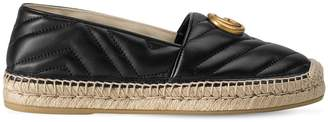 Gucci 10mm Pilar Quilted Leather Espadrilles