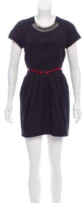 Vena Cava Embellished Cap Sleeve Dress