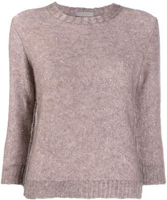 D-Exterior D.Exterior sequin knit jumper