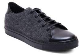 Jared Lang Leather & Fabric Low-Cut Sneakers