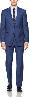 Tommy Hilfiger Men's Wool Stretch Ready to Wear Suit with Hemmed Pant