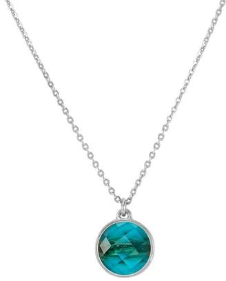 Melinda Maria Hunter Faceted London Blue Topaz Pendant Necklace