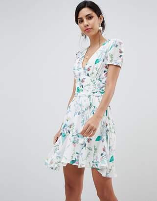 Oh My Love Short Sleeve Printed Tea Dress
