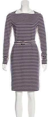 Tory Burch Striped Long Sleeve Dress