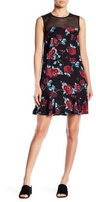 Splendid Floral Mesh Detailed Dress