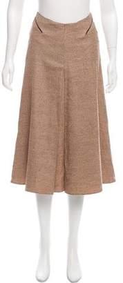 Joseph Lurex-Accented Wool Skirt
