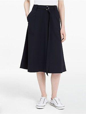 Calvin KleinCalvin Klein Womens Luxe Long Tie Skirt