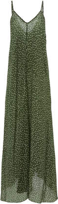 Adriana Degreas Polka Dot Silk maxi dress