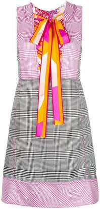 Emilio Pucci front lace-up A-line dress