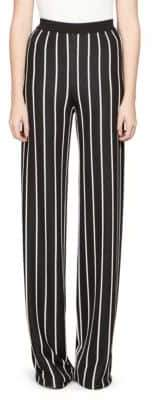 Balmain Wide-Leg Stripe Pants