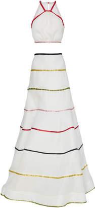 Swarovski Rainbow Ribbon Crop Top & Ball Skirt