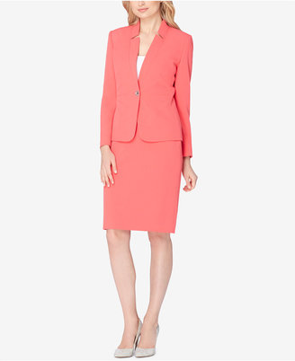 Tahari ASL Starburst-Stitch Skirt Suit $280 thestylecure.com