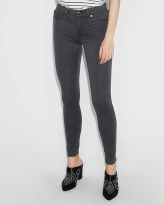 Express Mid Rise Gray Extreme Stretch Jean Leggings