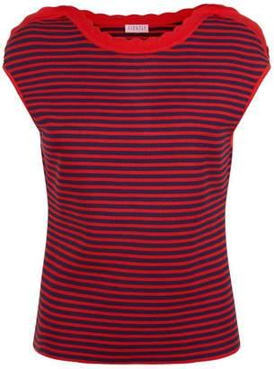 Claudie Pierlot Striped Sleeveless Sweater